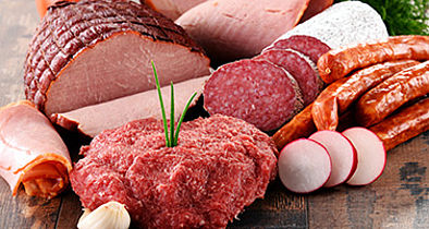 Analysis of sausage, meat and fish