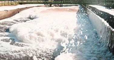 Wastewater foaming problems