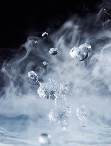 Water steam produced by sprinkler systems